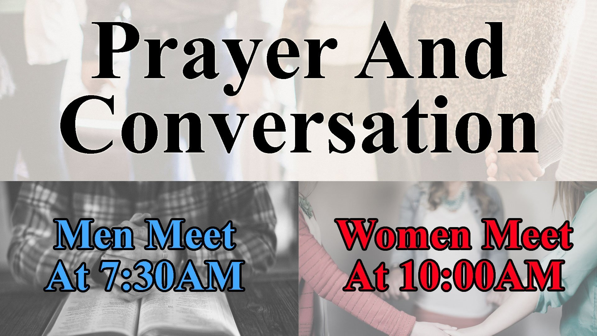 Men And Women's Prayer And Conversation