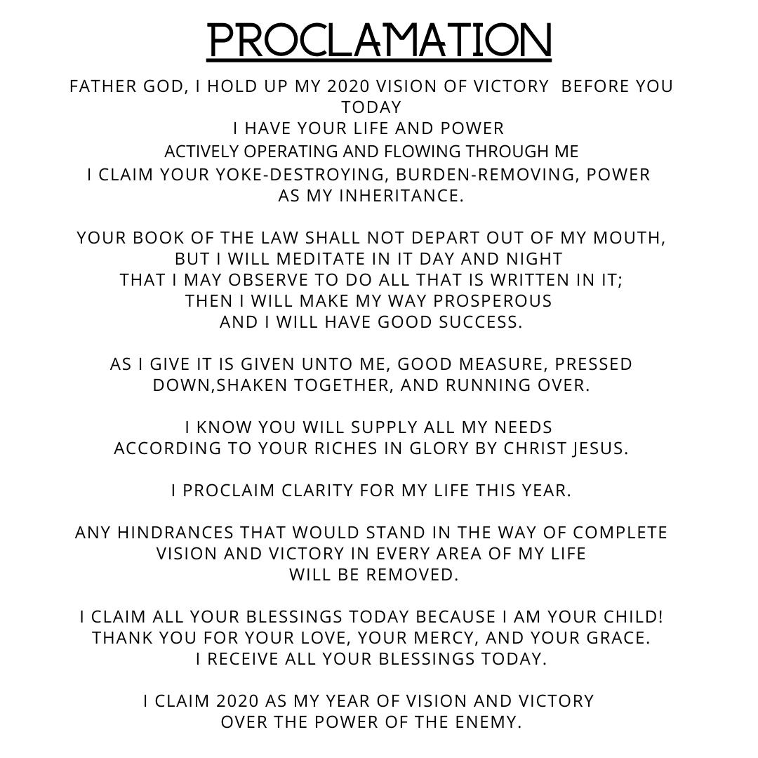 2020 Proclamation